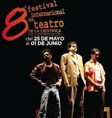 Cartel de la 8ª edición del Festival Internacional de Teatro La Científica