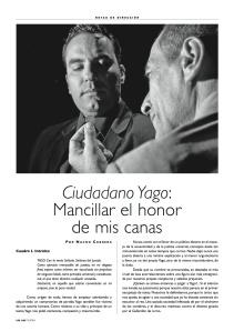 Artículo sobre la dirección del espectáculo CIUDADANO YAGO de Teatro La Republica aparecido en el Nº151 de la revista especializada ADE-TEATRO