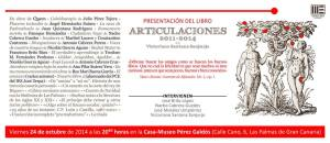 """Caetel presentacion """"Articulaciones 2011-2014"""""""